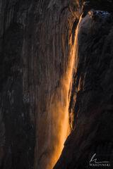 Horsetail Fall Under Golden Light