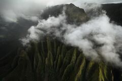 Na Pali Coast aerial photography