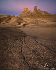 southwest, vertical, color, utah, sunrise, bad lands, purple, pink, warm, desert