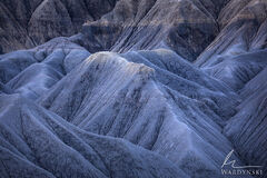 southwest, horizontal, cool, color, texture, detail, blue, utah, badlands, desert