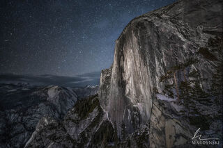The Face of Halfdome at Night