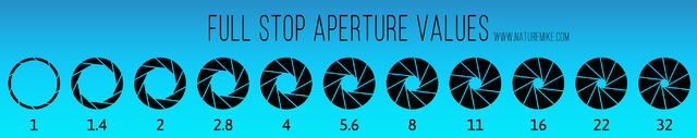 Full Stop Aperture Values