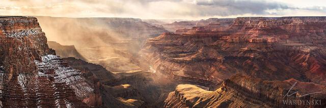 Grand Canyon storm panorama