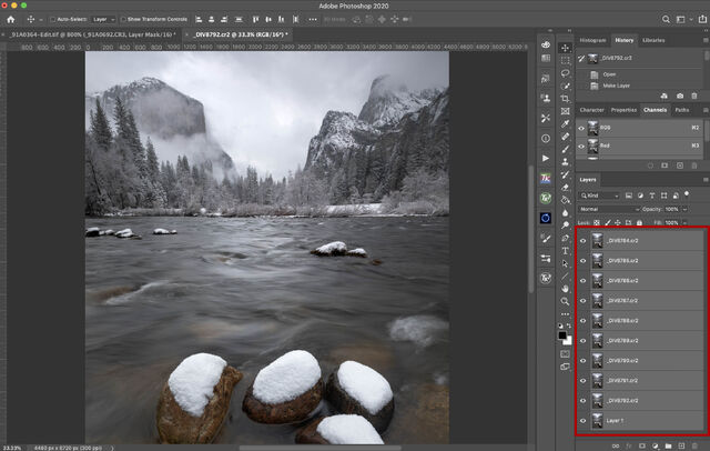 How to create a long exposure smart object in photoshop