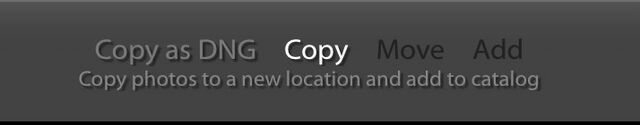 Lightroom classic file handling menu options