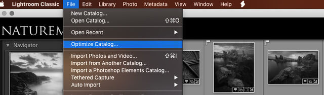 How to optimize your Lightroom catalog