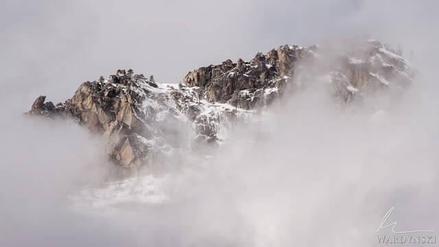 North Rim in Clouds
