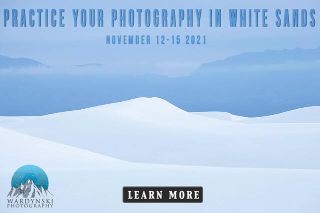 White sands photography workshop ad