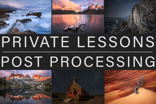 Private Lightroom and photoshop post processing lessons