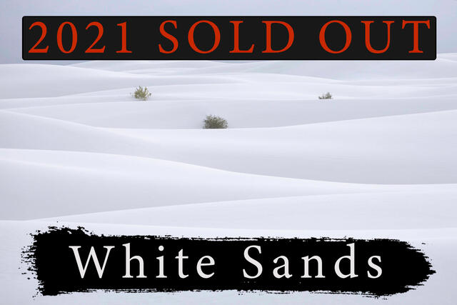White Sands National Park photography workshop sold out