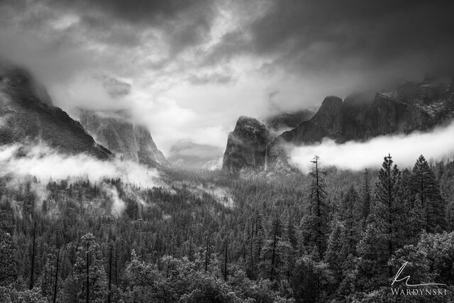 Receding storm over Yosemite Valley