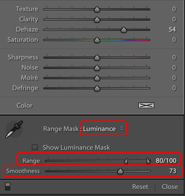 How to use range masks in Lightroom