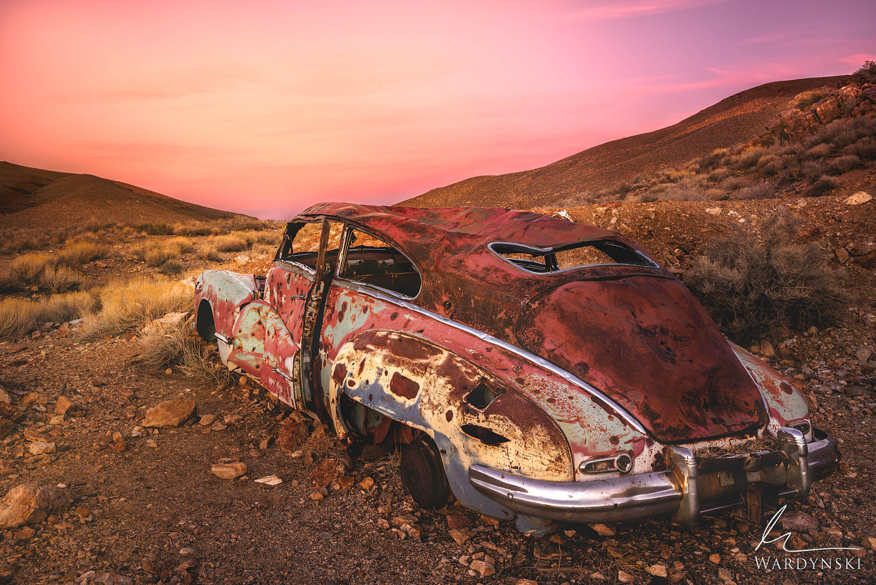 Fine Art Print | Limited Edition of 100  Deep in the desert of Death Valley National Park lies an old abandoned car. The once...