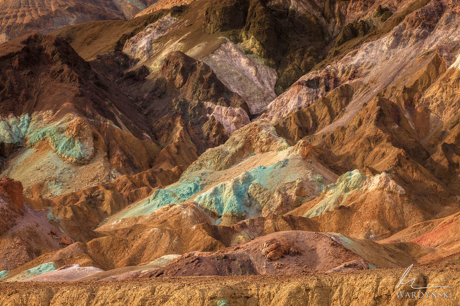 Fine Art Print | Limited Edition of 25  The Artist's Palette in Death Valley National Park, California is one of the strangest...