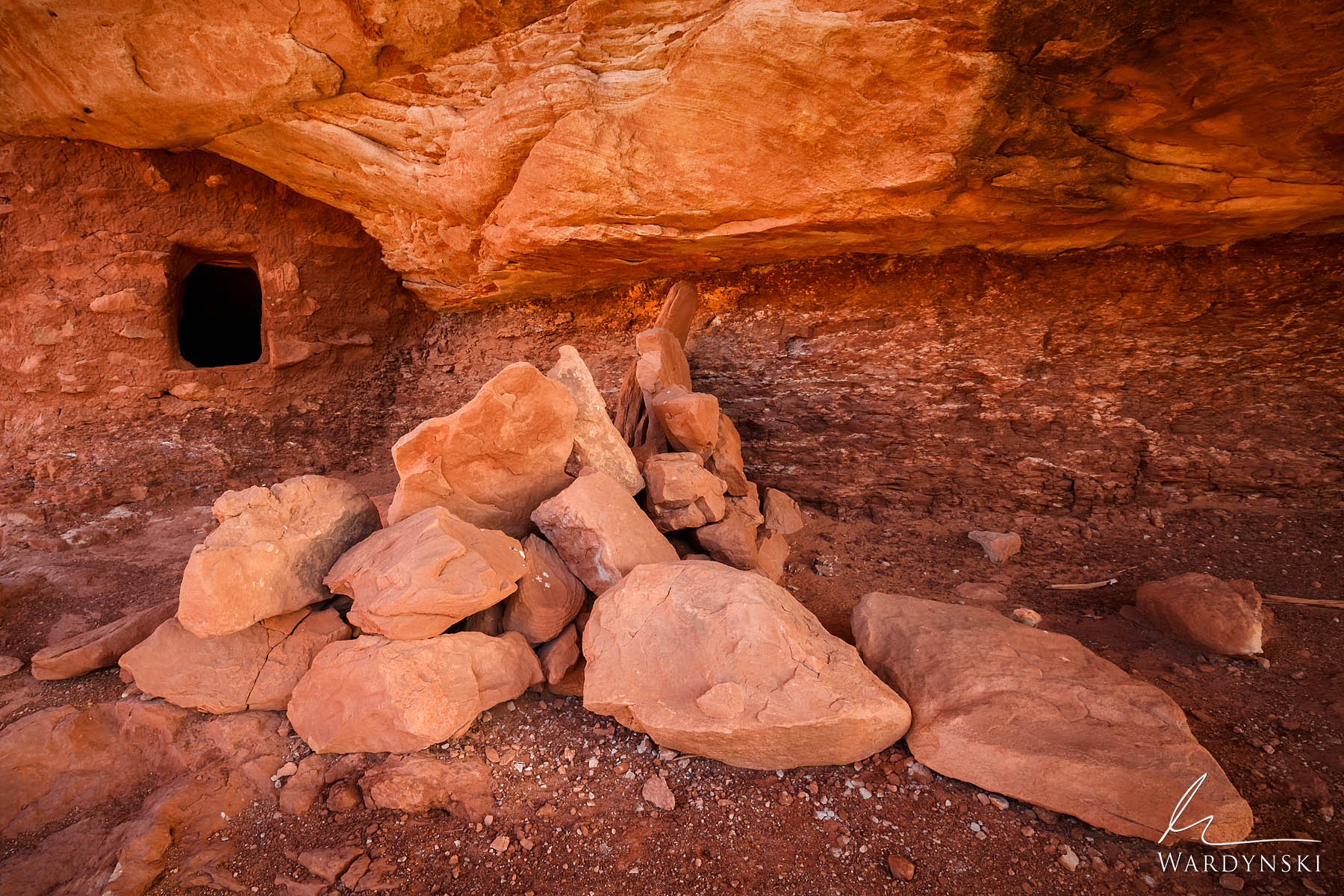 Fine Art Print | Limited Edition of 50 Stones lie exactly where they were placed by the Ancient Anasazi Native Americans many...