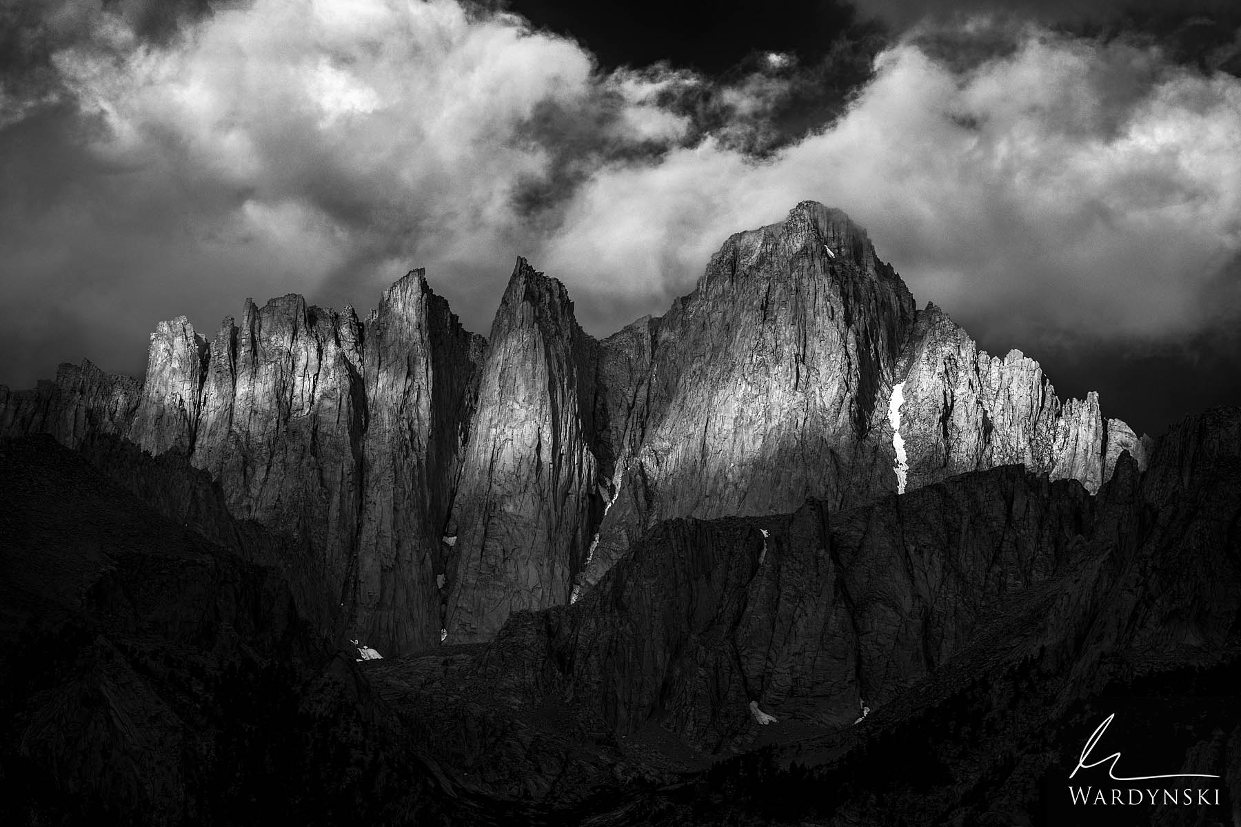 Black and White Fine Art Print | Limited Edition of 75  Towering 15,505 feet above sea level, Mount Whitney is the tallest mountain...