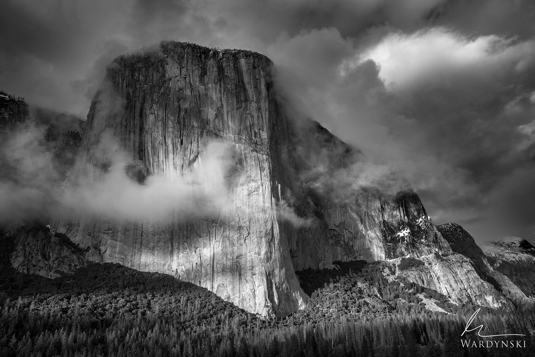 Fine Art Print in Black and White | Limited Edition of 100 There are few rocks in this world that are as impressive as EL Capitan...