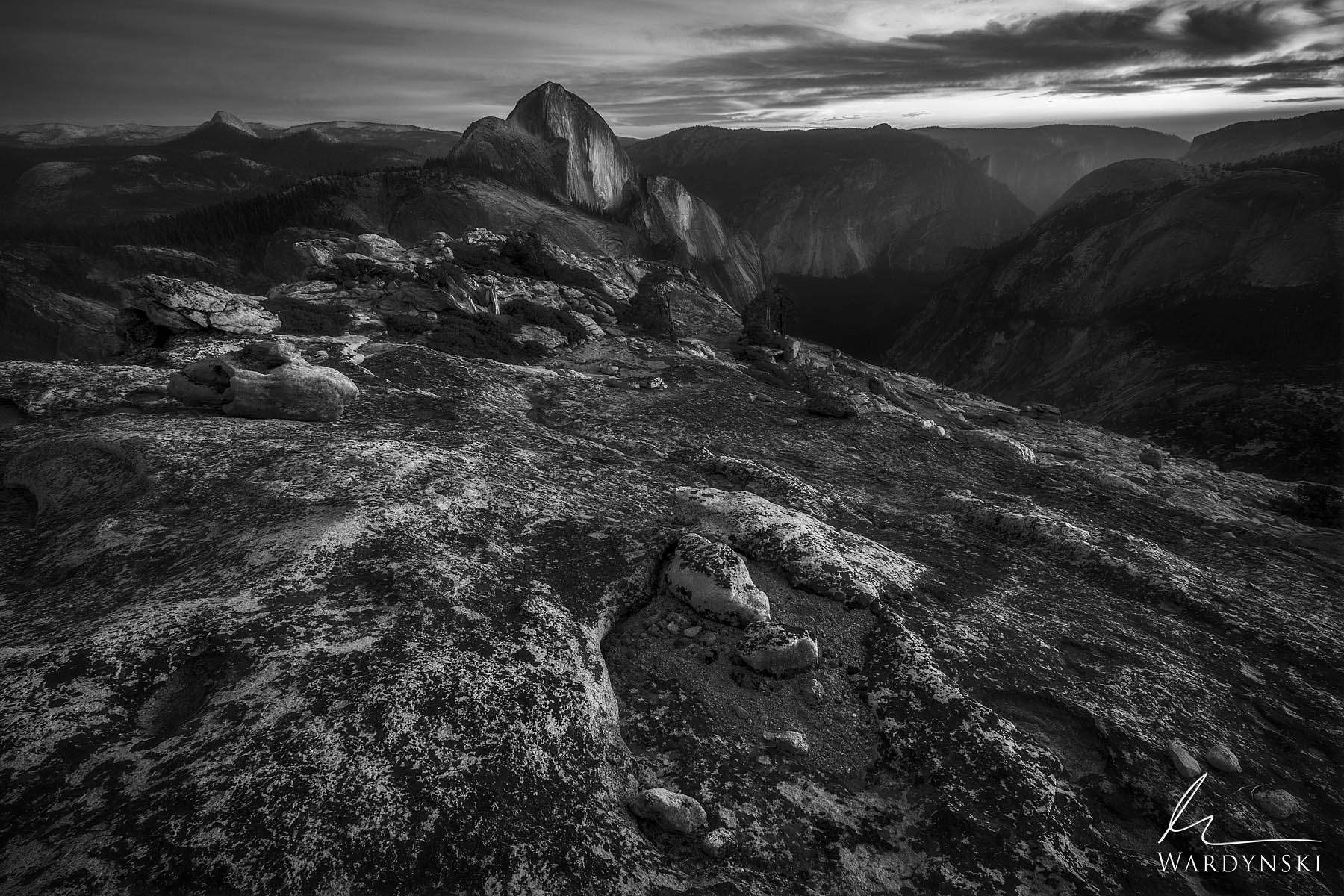 Fine Art Black And White Print | Limited Edition of 100  Halfdome rises from Yosemite Valley like a stoic protector who won't...