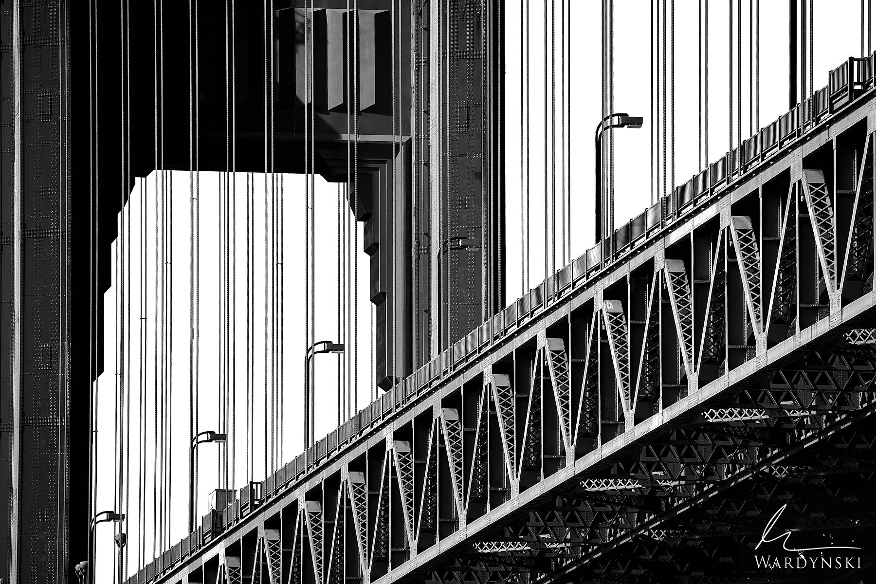 Black and White, Fine Art Print, Limited Edition of 75  The Golden Gate Bridge is iconic in many ways. With countless locations...