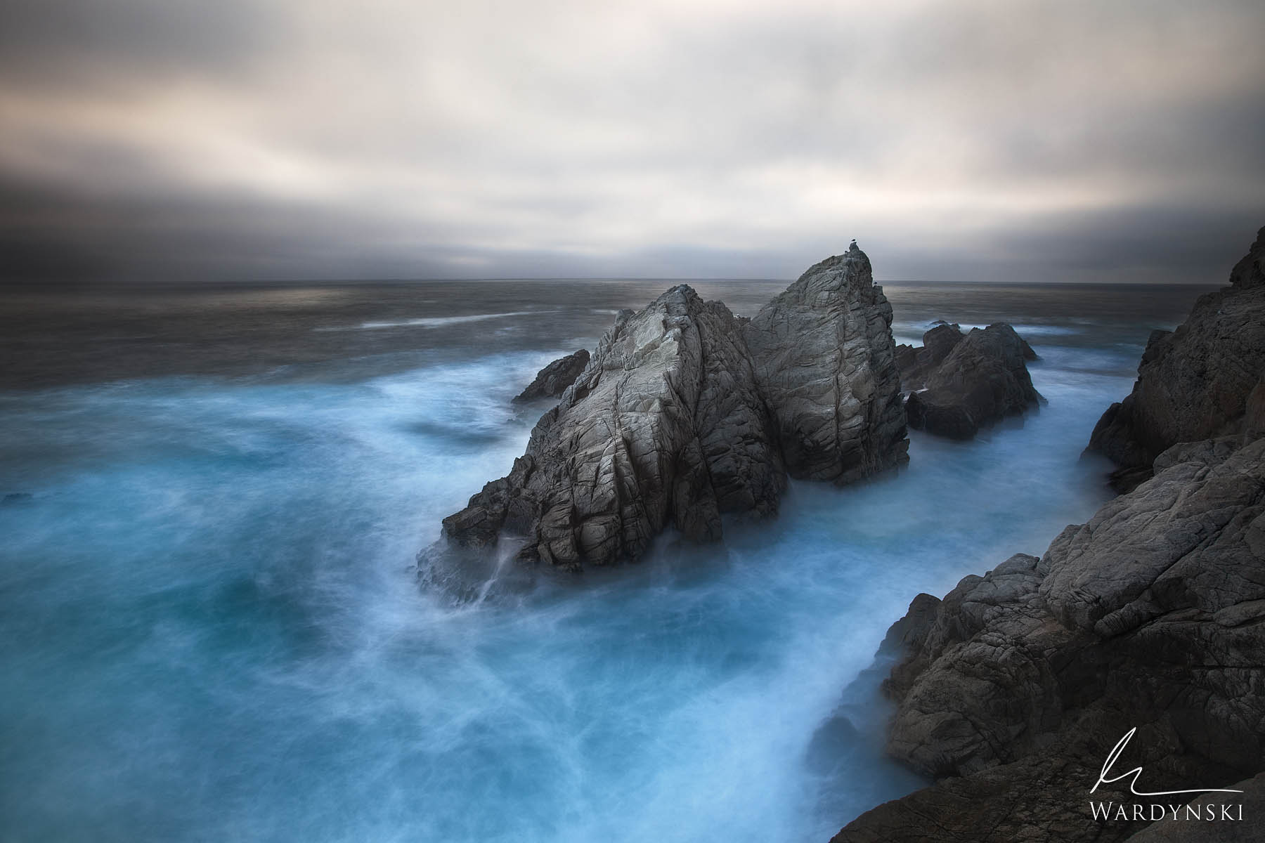 Fine Art Print | Limited Edition of 100  Like Sirens singing, three beautiful rocks sit firmly planted in the cool blue waters...