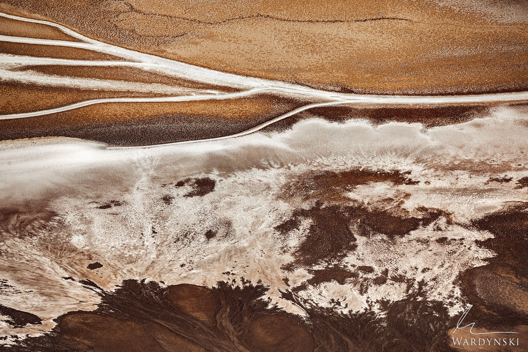 Fine Art Print | Limited Edition of 20  When viewed from above, the earth completely changes. This photograph of Badwater Basin...