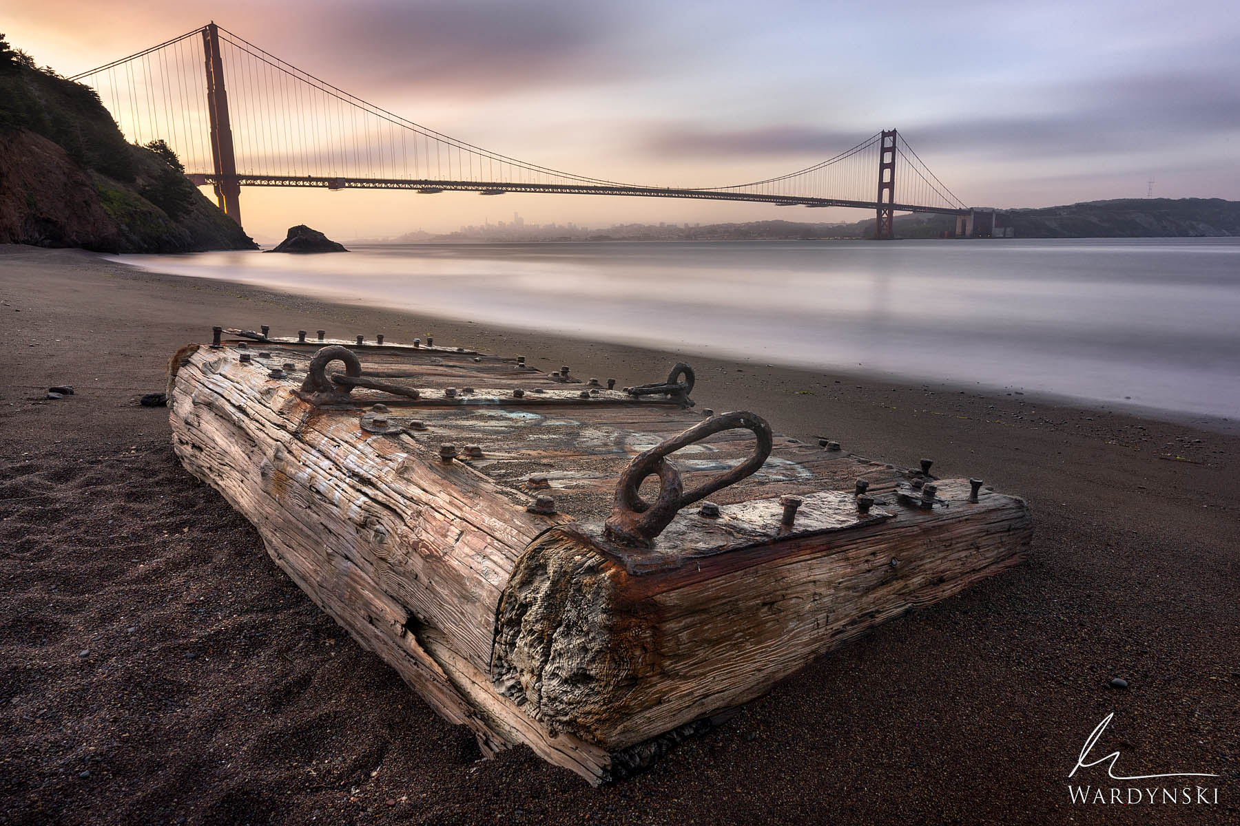 Fine Art Print | Limited Edition of 25  A wooden relic of earlier times rests on the shore of the San Francisco Bay as the first...