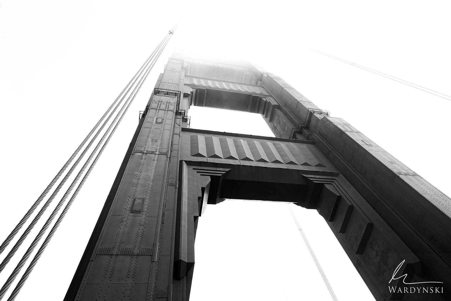 Black & White Fine Art Print | Limited Edition of 50 (Also available in color) The magnificent Golden Gate Bridge is the icon...