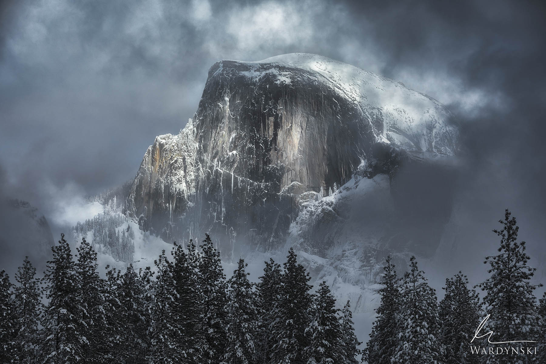 Fine Art Print | Limited Edition of 100  Halfdome is perhaps the most famous rock in the U.S. Every year millions of people flock...