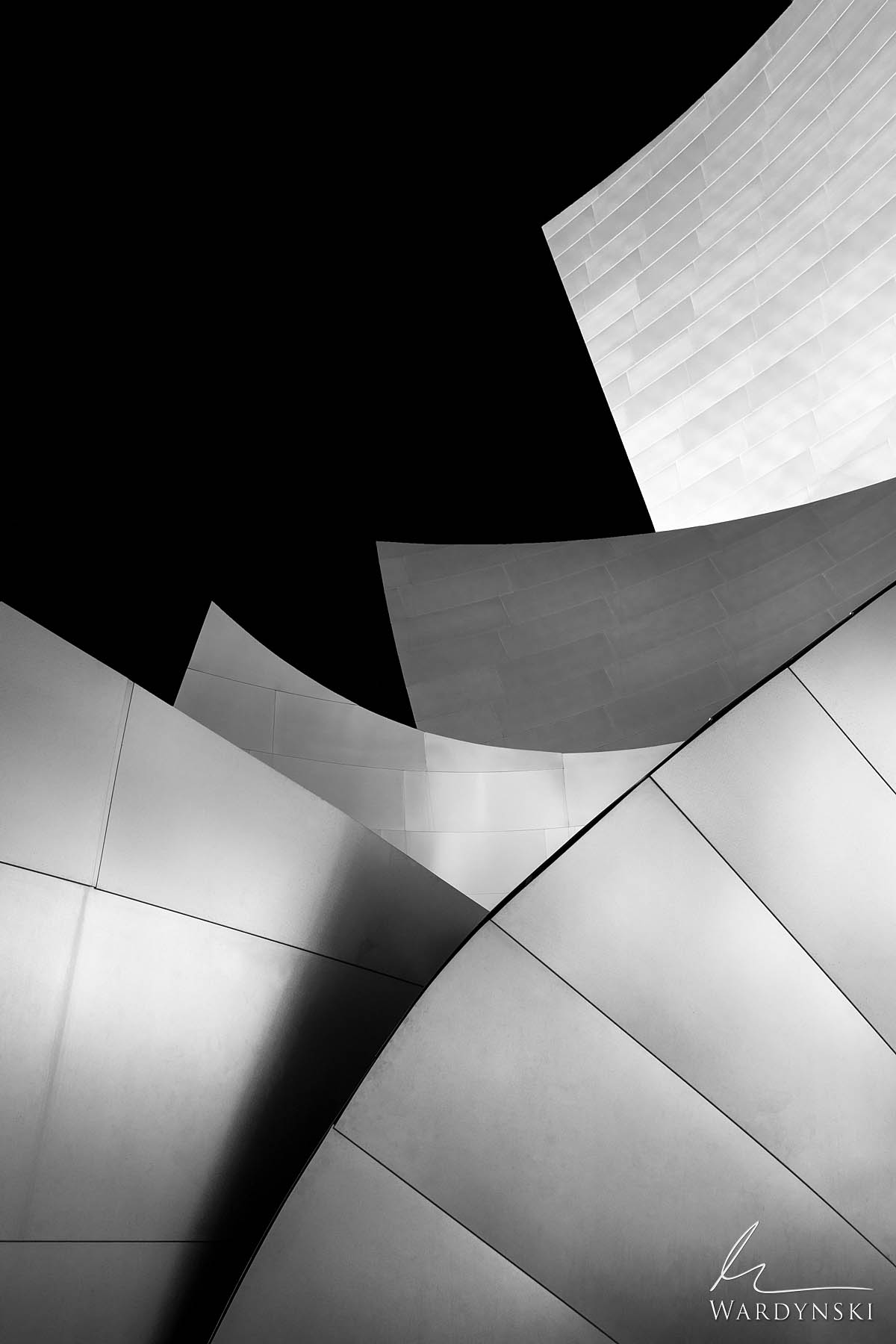 Black and White Fine Art Print | Limited Edition of 50  Beautiful lines are created by the modern machine like architecture of...