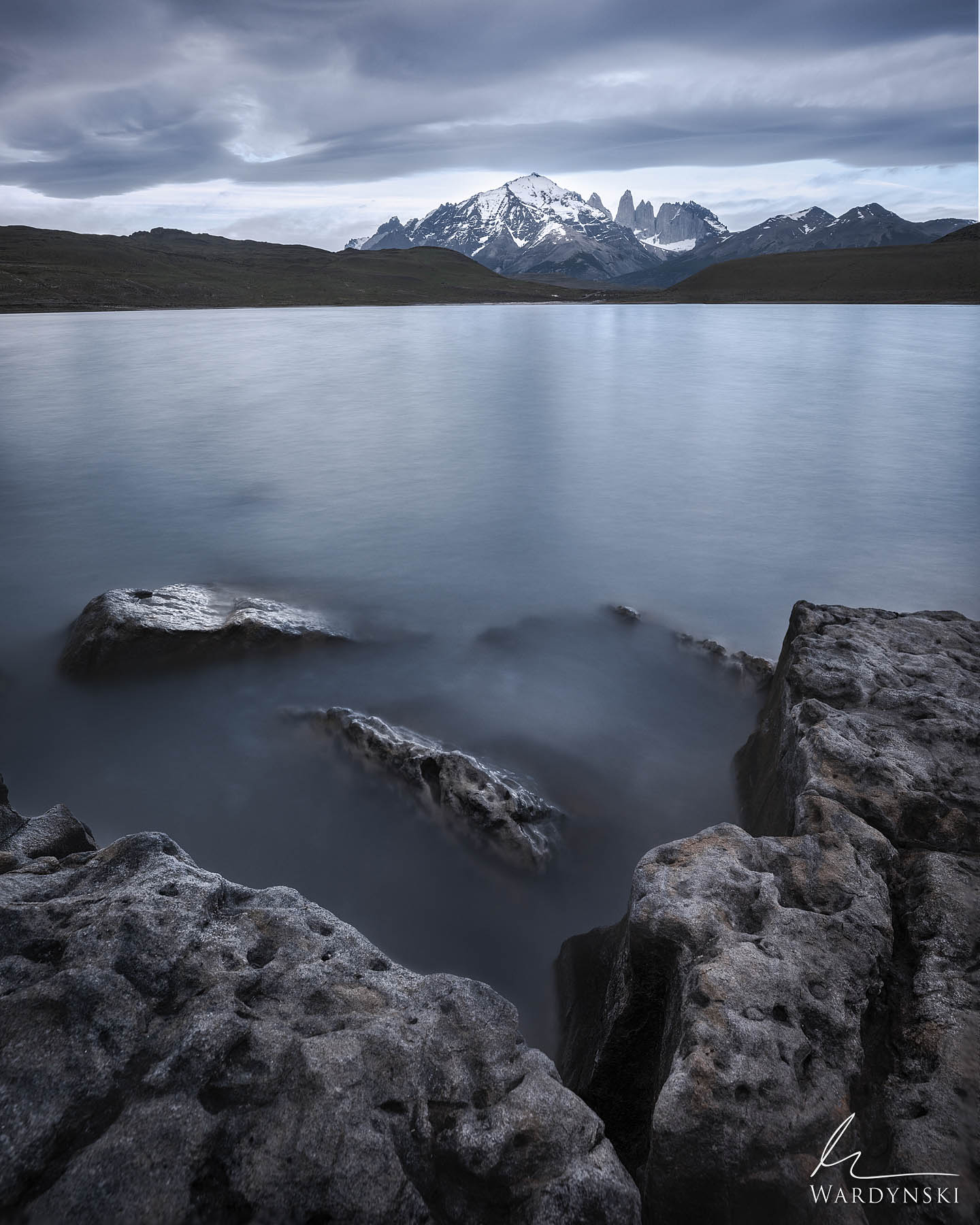 Fine Art Print | Limited Edition of 100  Laguna Amarga is a quiet lake just outside of Torres Del Paine National Park. It offers...