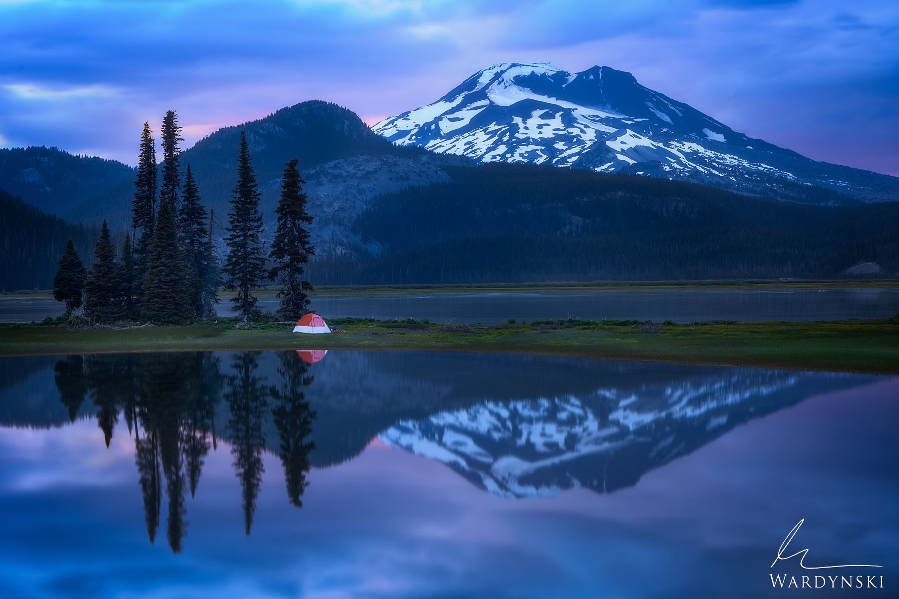 Fine Art Print   Limited Edition of 25  Sparks Lake is one of the most beautiful lakes in Oregon. The landscape is like something...