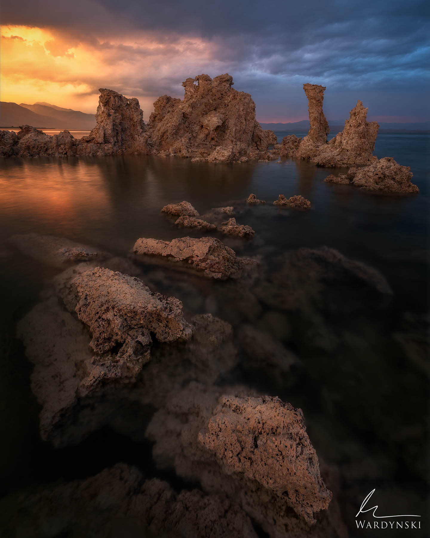 Fine Art Print | Limited Edition of 25  The strange rock formations in this image are called tufa. Tufa are limestone deposits...