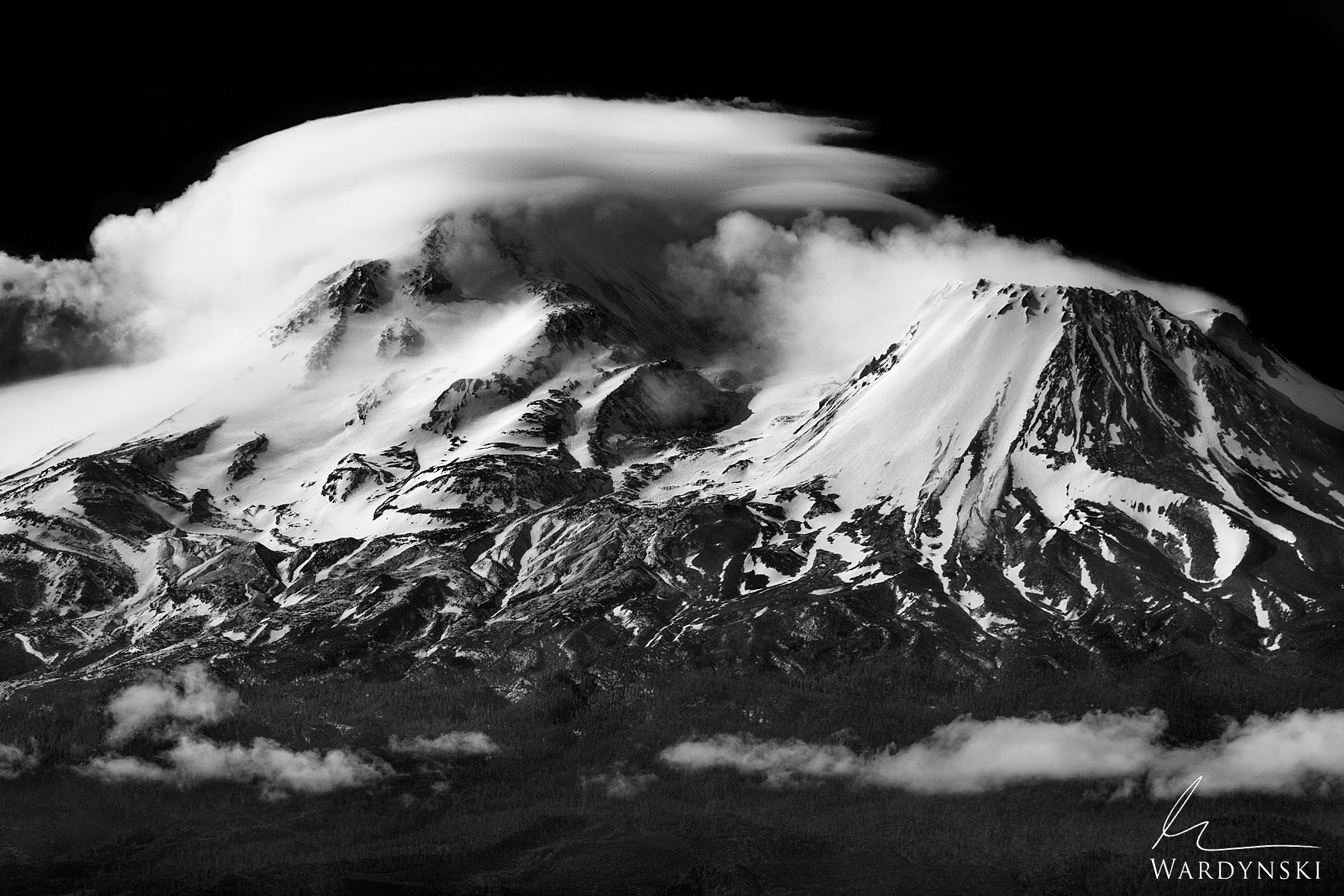 Black and White Fine Art Print | Limited Edition of 25 Mountains offer us a window to the past. They show us geological evidence...