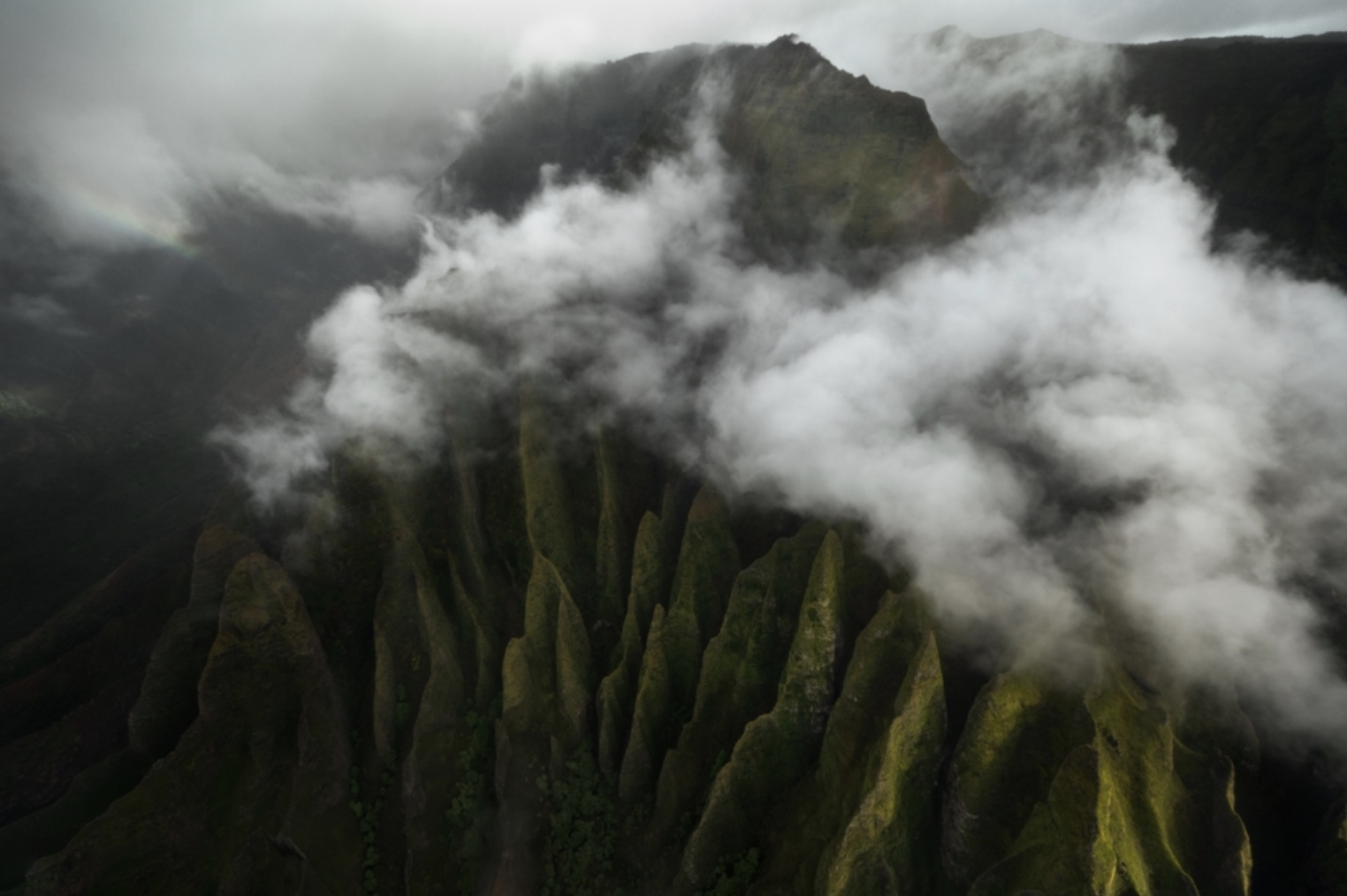 Na Pali Coast aerial photography