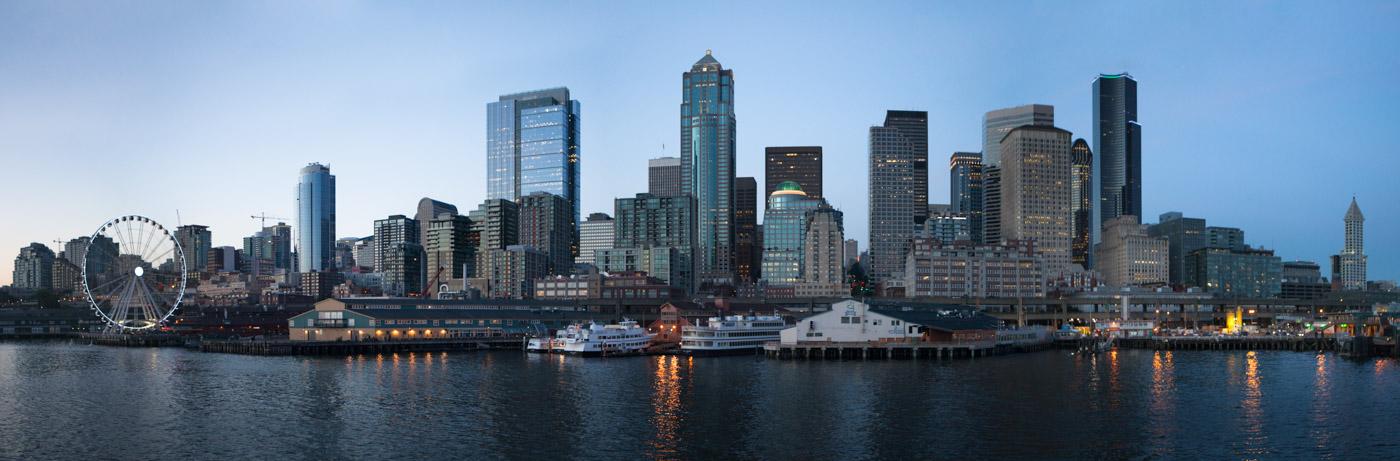 Panorama-photograph-of-Seatle-Washington