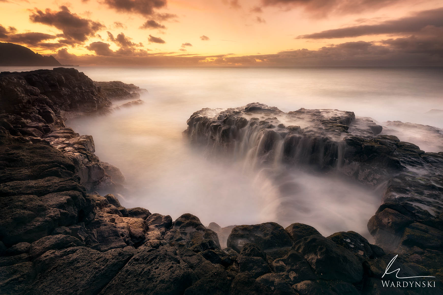 Fine Art Print | Limited Edition of 50  Violent ocean swell is turned into dreamy silk during a minute long exposure of Queens...