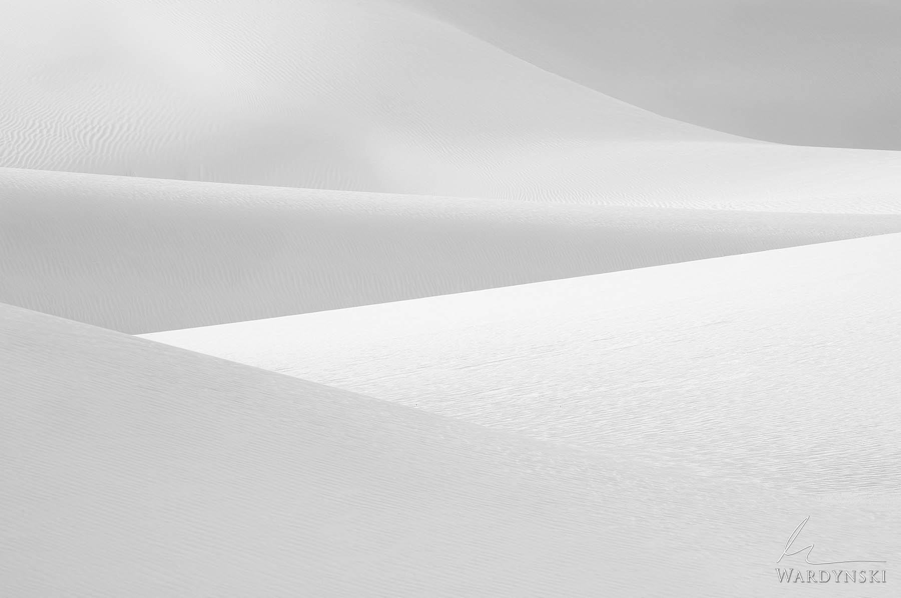 Fine Art Print | Limited Edition of 100 Rolling gypsum sand dunes create pleasing abstract textures in White Sands National Park...