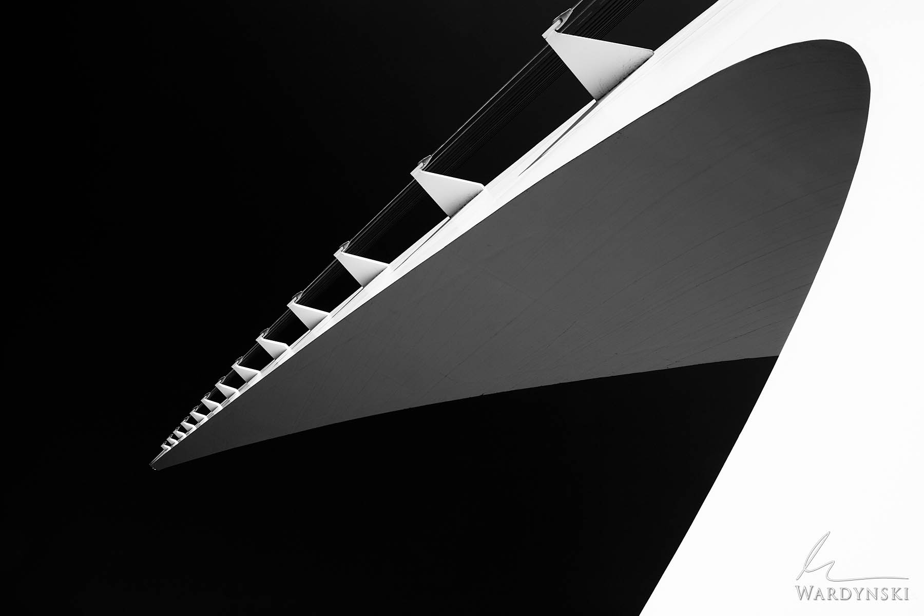 Black and White Fine Art Print | Limited Edition of 25  The mast of the Sundial Bridge in Redding California shoots 217 feet...