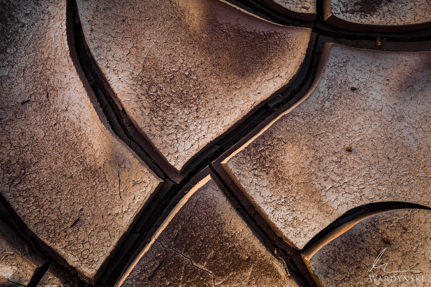 Fine Art Prints | Limited Edition of 25  Cracked mud creates pleasings lines and textures on the desert floor of the American...