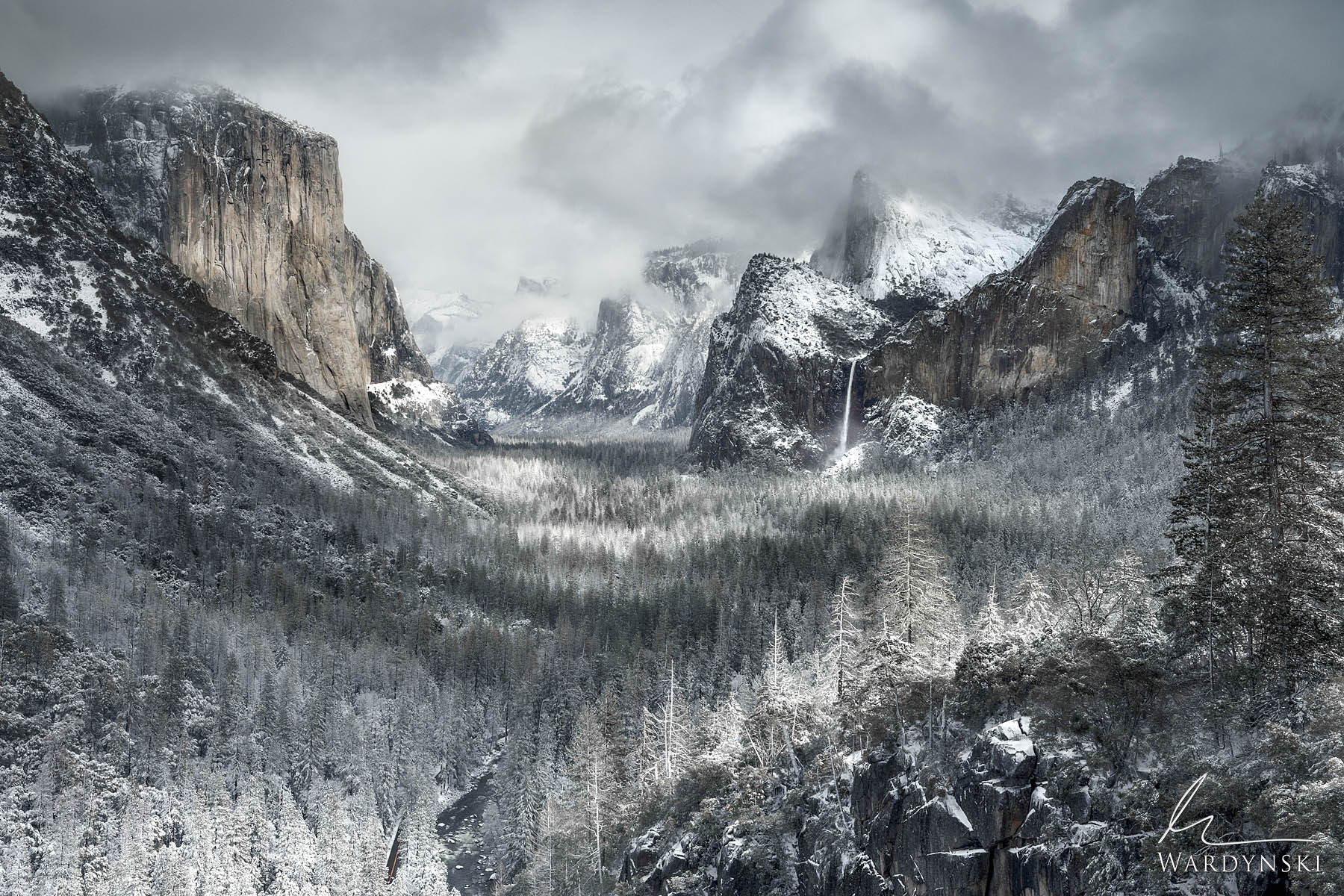 Fine Art Print | Limited Edition of 100  Yosemite Valley in the winter is a sight that is not to be forgotten. Snow was made...