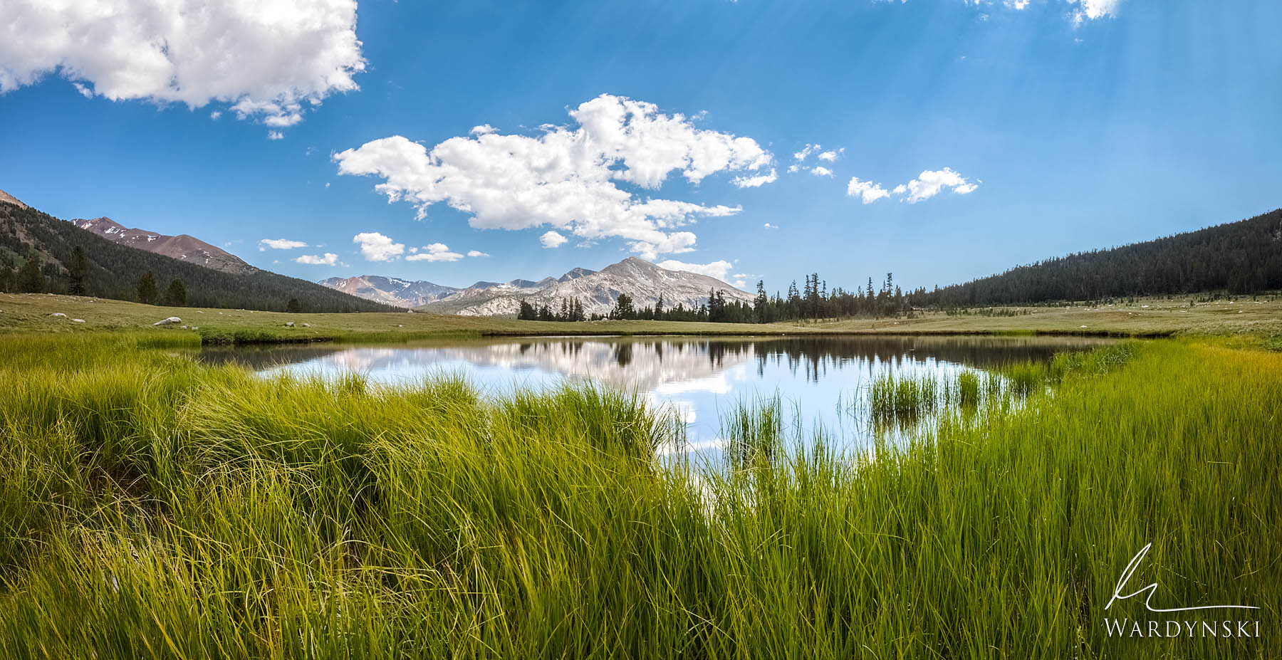 Fine Art Print | Limited Edition of 100  Tuloumne Meadows was made for peaceful day dreams. Still water creates pristine reflections...