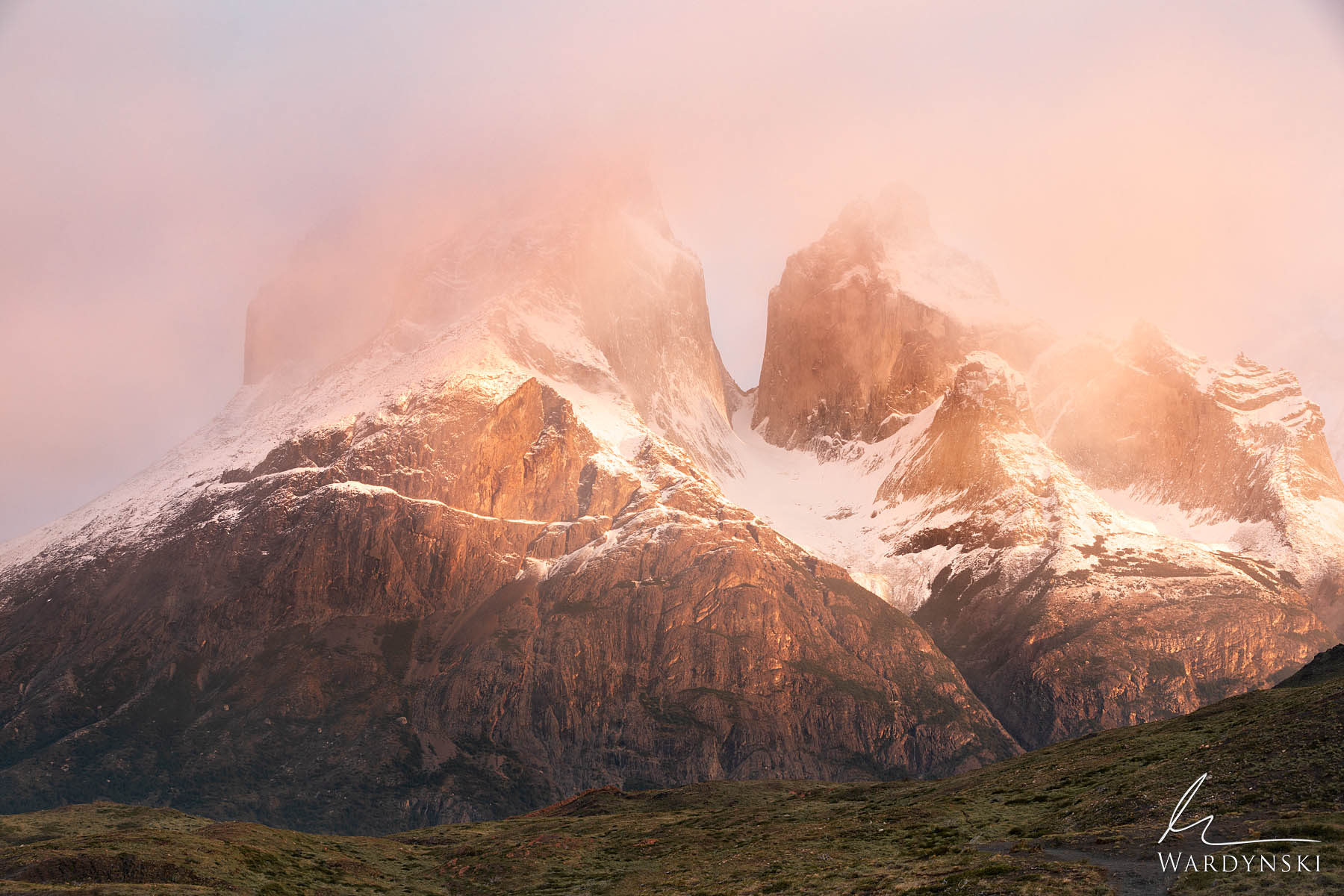 Fine Art Print l Limited Edition of 100  Sunrise in Torres Del Paine can be quite stubborn at times, but then there are the times...