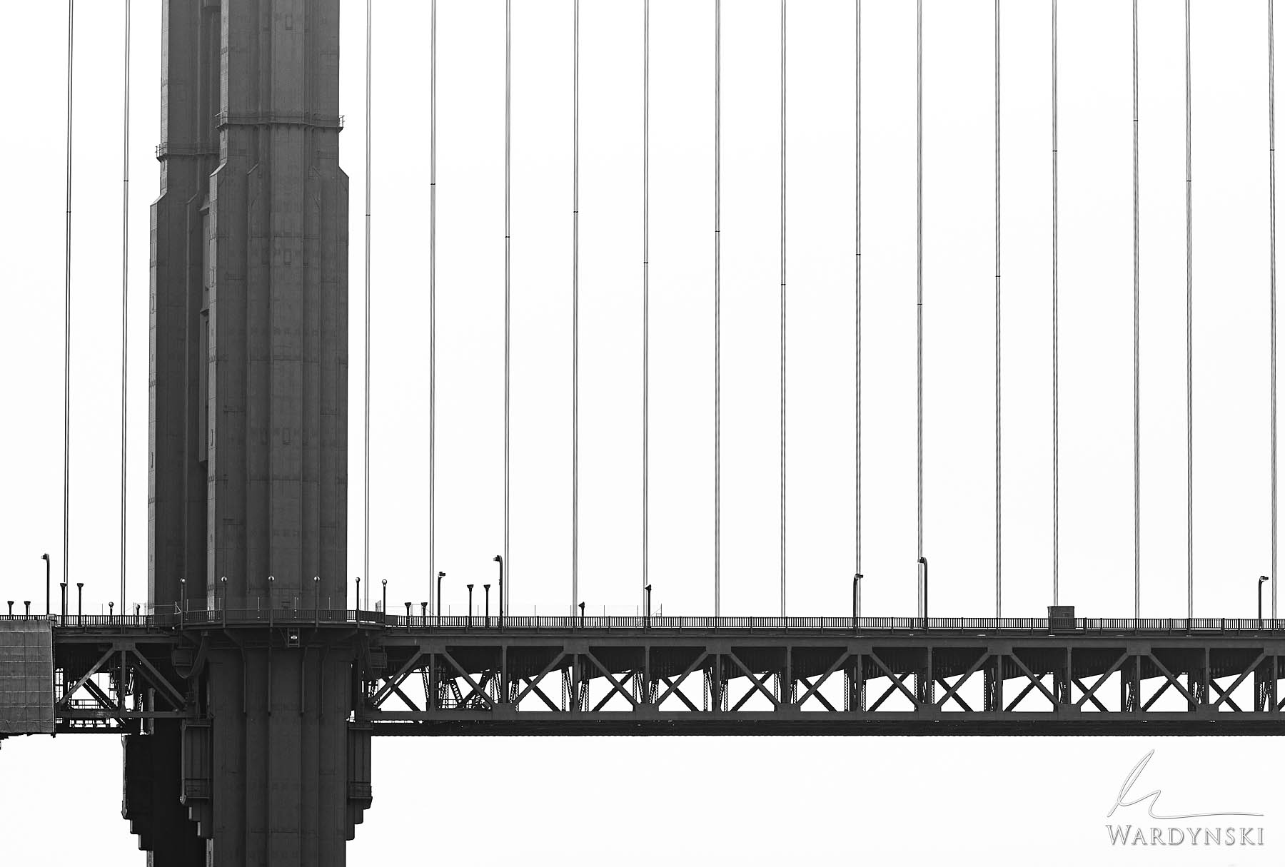 Black and White Fine Art Print | Limited Edition of 100  Perfectly perpendicular lines are created by the tower of the Golden...