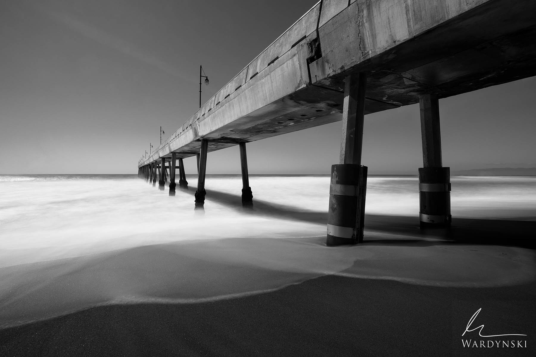 Black and White Fine Art Print | Limited Edition of 100  The Pacifica Pier stretches into the Pacific Ocean just south of the...
