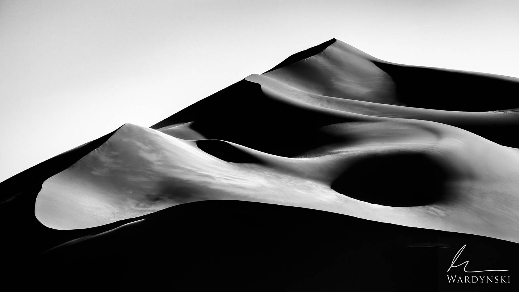 Black and White Fine Art Print | Limited Edition of 100  Like silk blowing in the breeze, a mountain of sand voluptuously contours...