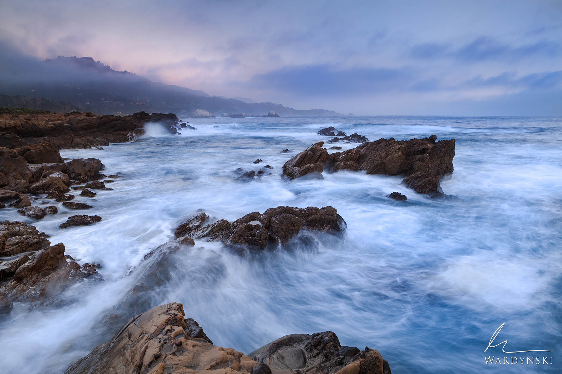 Fine Art Print | Limited Edition Print of 100  Waves crash and swirl along the shore of Point Lobos State Park. From Carmel to...