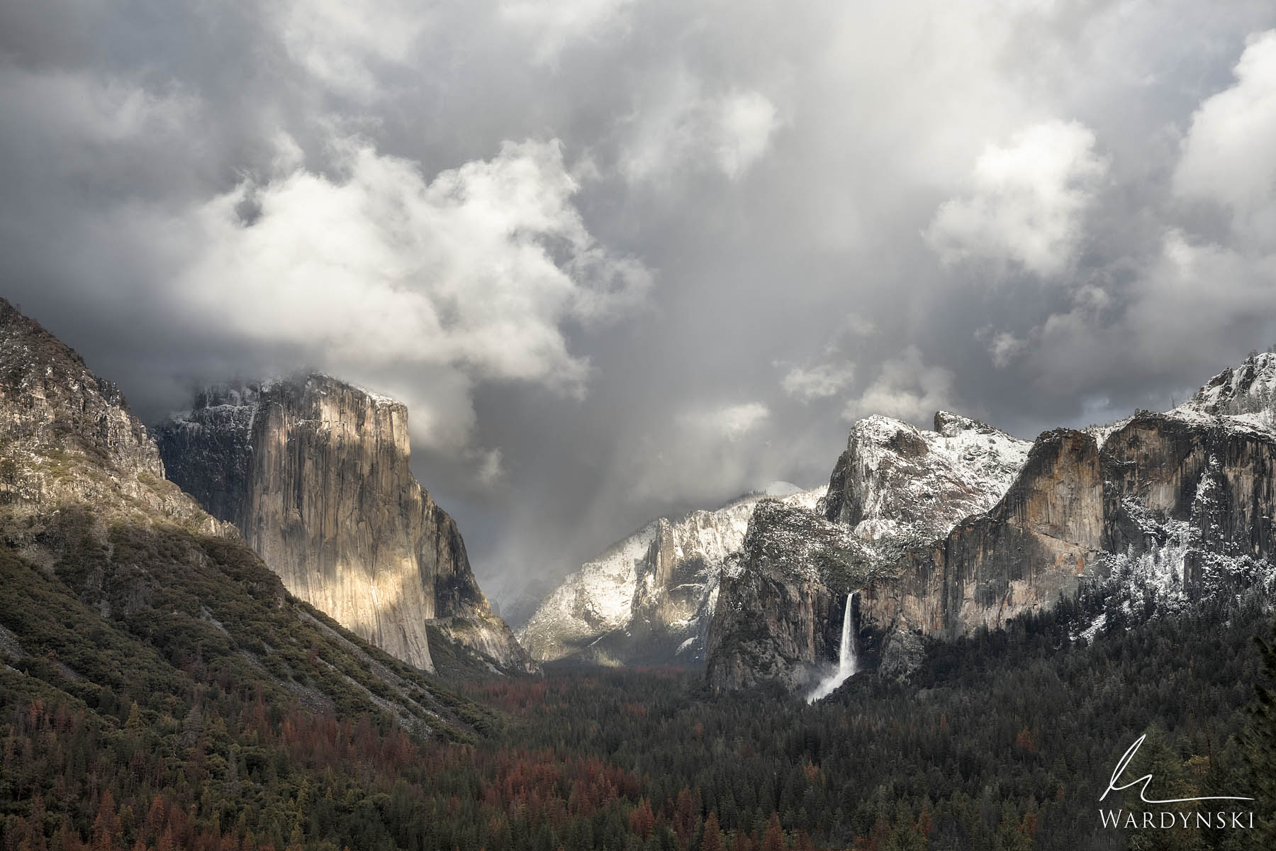 Fine Art Prints | Limited Edition of 200  Dappled light spotlights El Capitan and Sentinel Rock in Yosemite Valley. This classic...