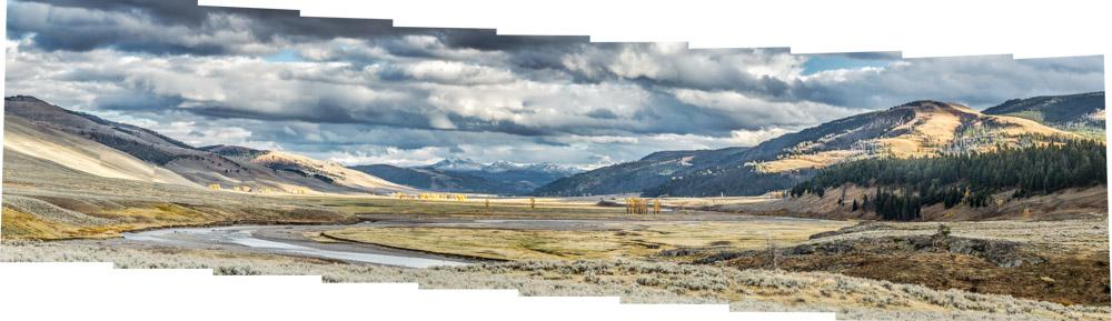unlevel tripod panorama example