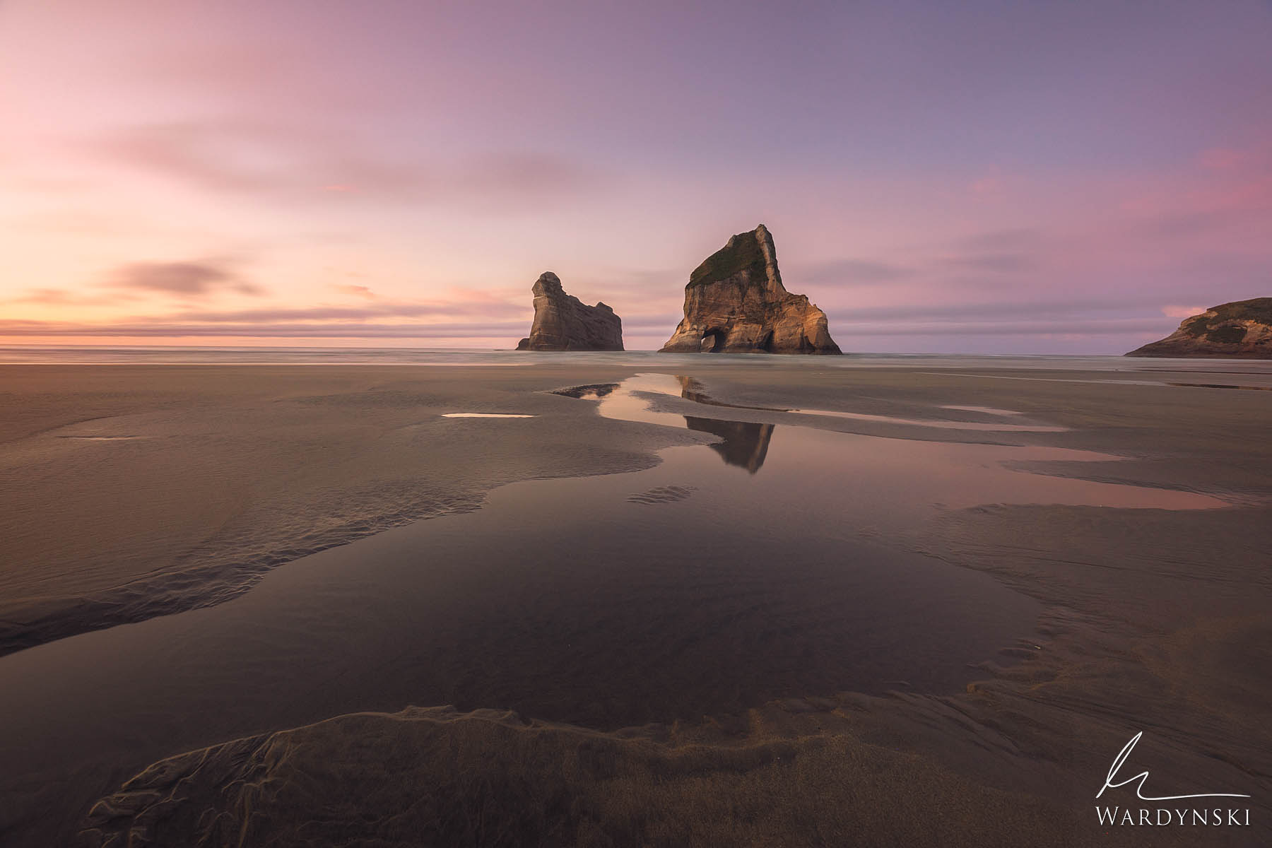 Fine Art Print | Limited Edition of 100  The Archway Islands sit off of the cost of Wharariki Beach in New Zealand. These impressive...
