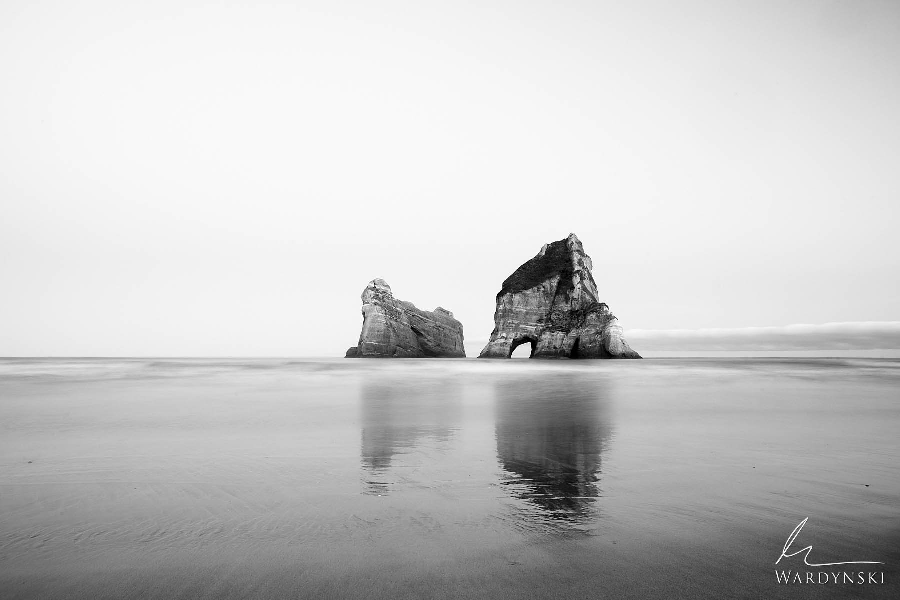 Black and White Fine Art Print | Limited Edition of 25    At the northern most shore of the southern island of New Zealand lies...
